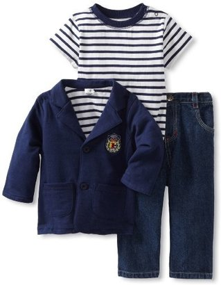 Little Me Baby-Boys Infant Preppy 3 Piece Jacket Set