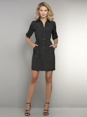 New York & Co. Silky Solid Shirtdress