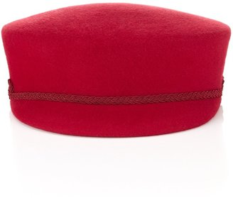 Marie Mercie Red Felt Sovietique Cap