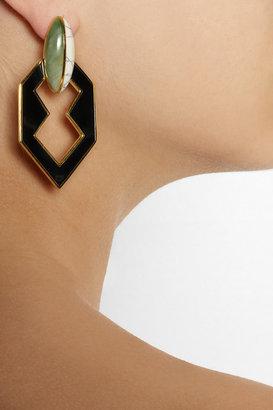Eddie Borgo Gold-plated, new jade and howlite earrings