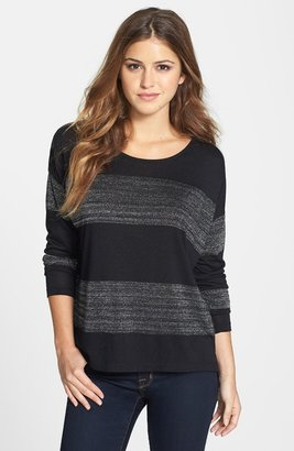 Vince Camuto Two by Metallic Stripe Stretch Jersey Tee