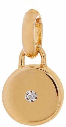 Monica Vinader Gold Vermeil Linear Solo Diamond Pendant Charm