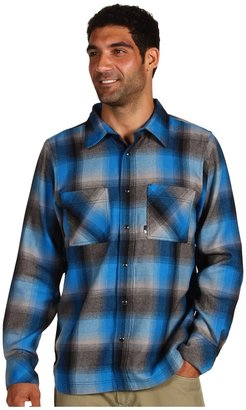 The North Face Cledus Flannel Shirt (Athens Blue/Metallic Silver/TNF Black) - Apparel