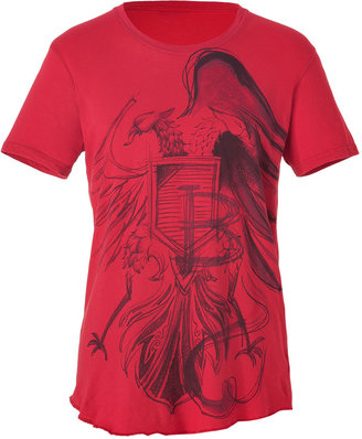 Balmain Red Printed Tee