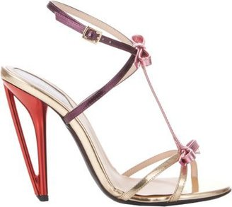 Fendi Bow-Embellished Iridia T-Strap Sandals