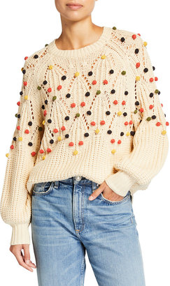 The Great The Frond Pullover with Pompoms