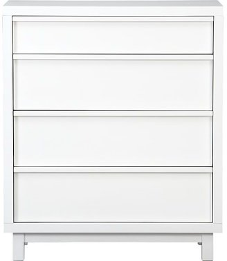 Crate & Barrel Ledge White Four-Drawer Chest