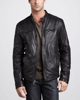 Andrew Marc New York Warp Leather Jacket