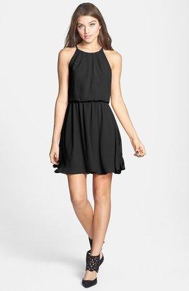 Lush Blouson Chiffon Skater Dress (Juniors)