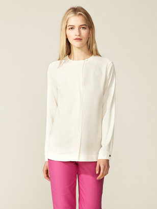 Peter Som Crepe Single Button Blouse