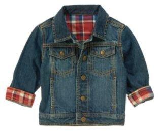 Crazy 8 Plaid Cuffed Denim Jacket