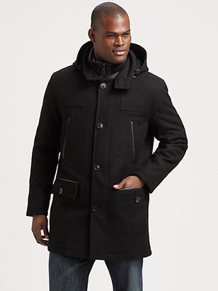 Andrew Marc New York Wool-Blend Parka