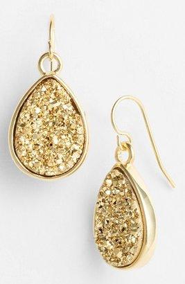 Marcia Moran Small Drusy Teardrop Earrings