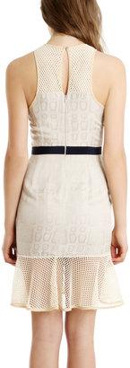 Charlotte Ronson Silk Fishnet Dress