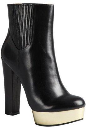 Rachel Zoe black leather mirrored plaform jodhpur 'London' ankle boots