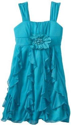 Amy Byer Girls 7-16 RuffleFront Dress