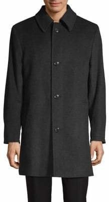London Fog Loane Wool-Blend Overcoat