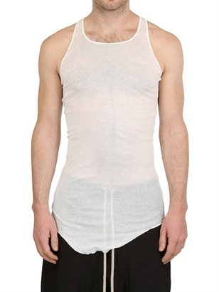 Rick Owens Miniribbed Cotton Tank Top