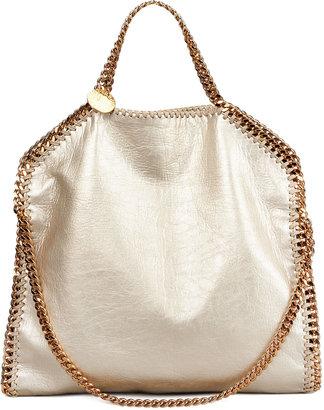 Stella McCartney Falabella Fold-Over Shoulder Bag, Gold