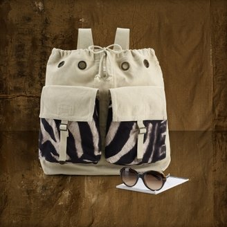 Denim & Supply Ralph Lauren Zebra-Print Canvas Backpack