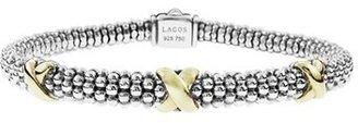 Women's Lagos 'Signature Caviar' Two-Tone Mini Oval Rope Bracelet $595 thestylecure.com