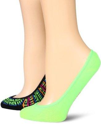 Steve Madden Legwear Women's 2 Pack Geometric Patterned Footies