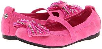 Stuart Weitzman Fiona Bow Strap (Fuchsia) Girls Shoes