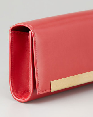Saint Laurent Lutetia Flap Clutch Bag, Red