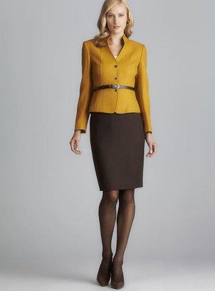 Tahari Belted Herringbone Skirt Suit