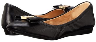 Cole Haan Tali Bow Ballet (Black) Women's Slip on Shoes