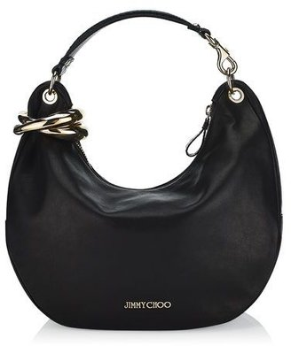 Jimmy Choo Solar Leather Shoulder Bag