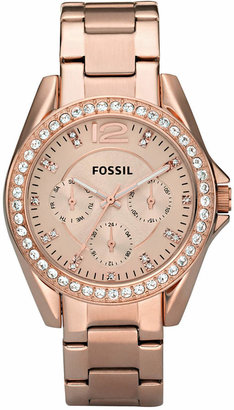 Fossil Women's Riley Rose Gold Plated Stainless Steel Bracelet Watch 38mm ES2811 $135 thestylecure.com