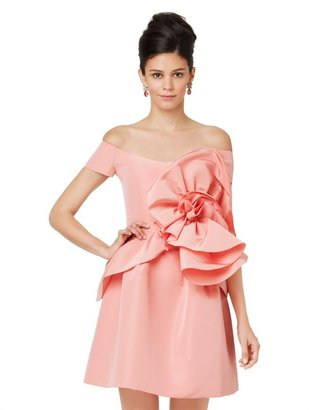 Oscar de la Renta Off Shoulder Blouse With Rosette