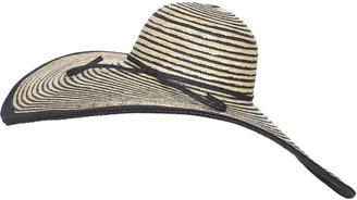 Arden B Striped Oversized Floppy Hat