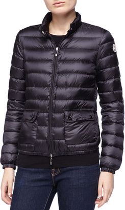 Moncler Zip Puffer Jacket, Black