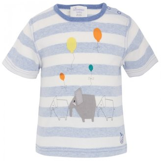 Bonnie Baby Stripe Elephant Applique Tee