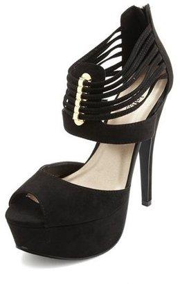 Charlotte Russe Strappy Ankle Cuff Platform Heels
