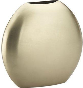 Crate & Barrel Cooper Brass Vase