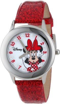 "Disney Kids' W000914 ""Tween Minnie Glitz"" Stainless Steel Watch with Red Band"