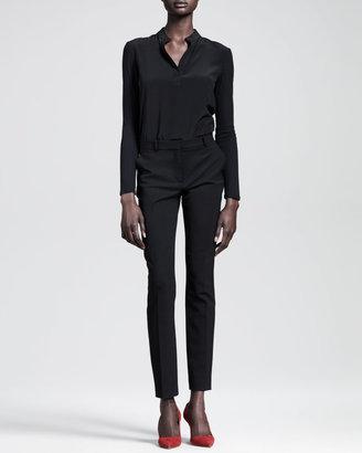 The Row Skinny Gabardine Ankle Pants