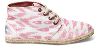 Toms Pink ikat women's sustainable desert botas