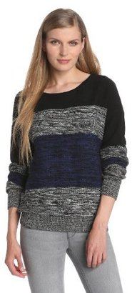 LnA Women's Multi Striped Sweater