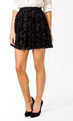Forever 21 Shirred Lace Skirt