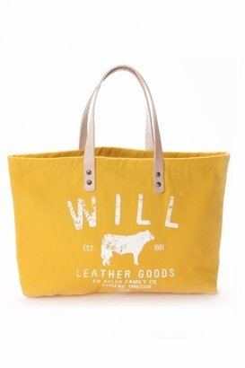 Will Leather Goods Small Classic Carry-All Bag in Yellow