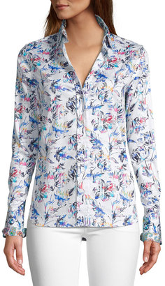 Robert Graham Priscilla Watercolor Floral Print Shirt