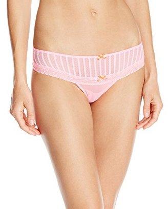 Betsey Johnson Women's Stocking Stripe Thong Panty