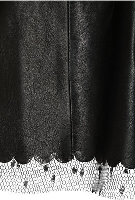 RED Valentino Pleated leather coat