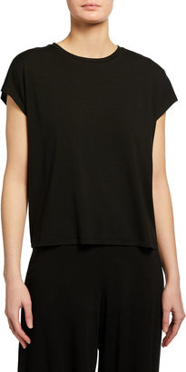 Eileen Fisher Fine Jersey Crewneck Boxy Top