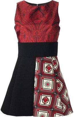 Fausto Puglisi contrast panel dress