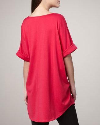 Joan Vass Rolled-Sleeve Tunic
